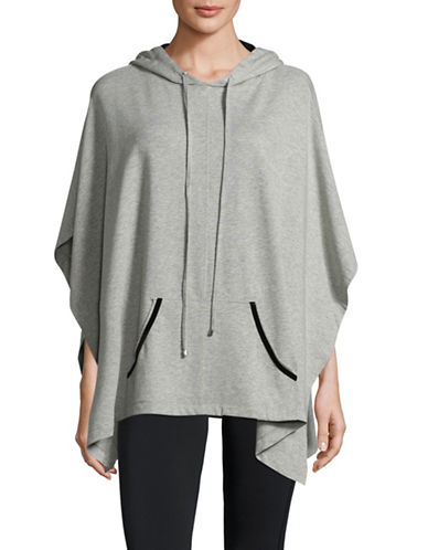 Ivanka Trump Hoodie Poncho-GREY-Medium