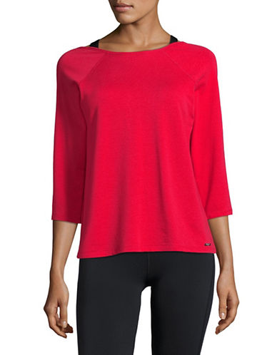 Ivanka Trump Criss Cross Back Top-RED-X-Large