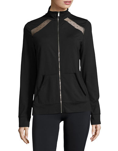 Ivanka Trump Mesh Insert Performance Jacket-BLACK-Large