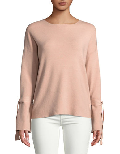 Design Lab Lord & Taylor Tie Sleeve Top-PINK-X-Small 89687090_PINK_X-Small