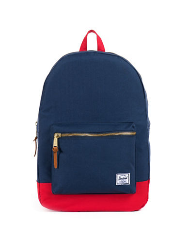 Herschel Supply Co Settlement Colourblock Backpack-NAVY/RED-One Size