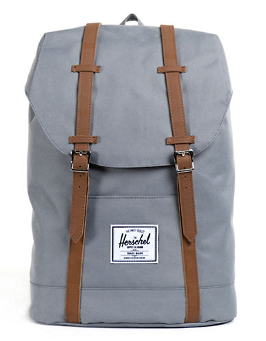 Herschel Supply Co Retreat Tall Backpack-BLACK-One Size