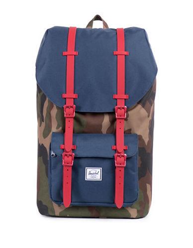 Herschel Supply Co Little America Woodland Camo Backpack-CAMO GREEN-One Size