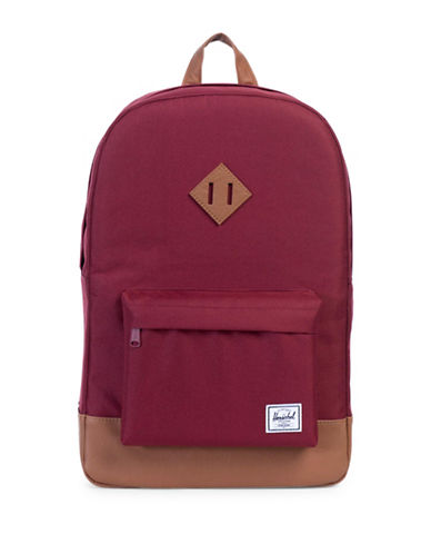 Herschel Supply Co Heritage Backpack-WINE/TAN-One Size