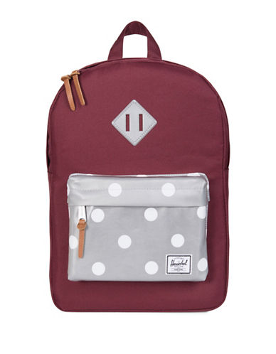 Herschel Supply Co Heritage Youth Backpack-WINE/GREY-One Size