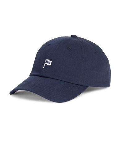 Herschel Supply Co Sylas Cotton Flag Baseball Cap-NAVY-One Size