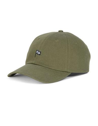 Herschel Supply Co Sylas Cotton Flag Baseball Cap-GREEN-One Size
