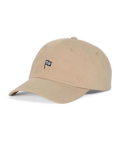 Herschel Supply Co Sylas Cotton Flag Baseball Cap-BEIGE-One Size