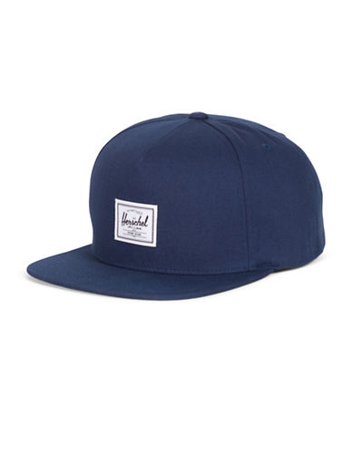 Herschel Supply Co Dean Cotton Snapback Cap-NAVY-One Size