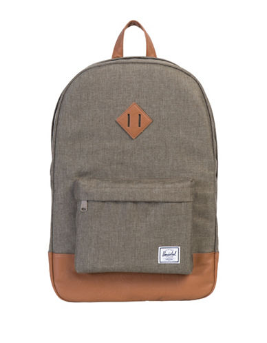 Herschel Supply Co Heritage Canteen Crosshatch Backpack-GREEN-One Size