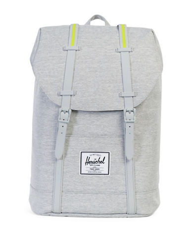 Herschel Supply Co Retreat Textured Backpack-LIGHT GREY-One Size
