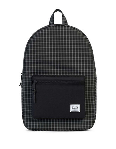 Herschel Supply Co Settlement Grid Backpack-BLACK-One Size