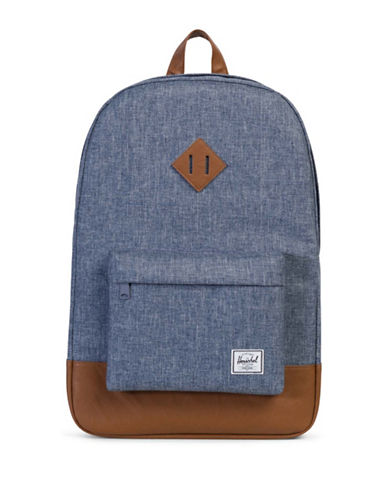 Herschel Supply Co Heritage Chambray Crosshatch Backpack-BLUE-One Size
