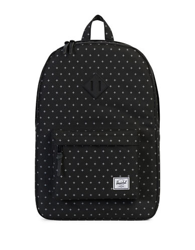 Herschel Supply Co Heritage Cross-Print Backpack-BLACK-One Size