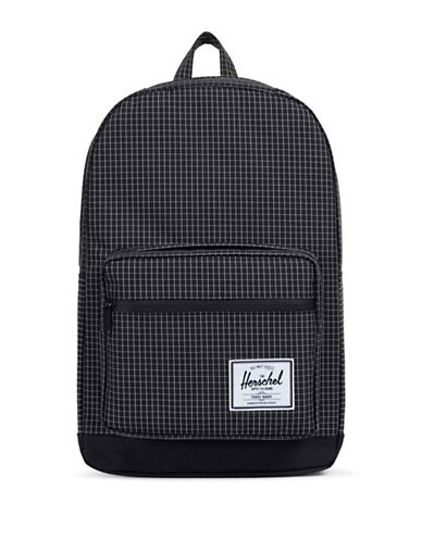 Herschel Supply Co Pop Quiz Crosshatch Grid Backpack-BLACK-One Size