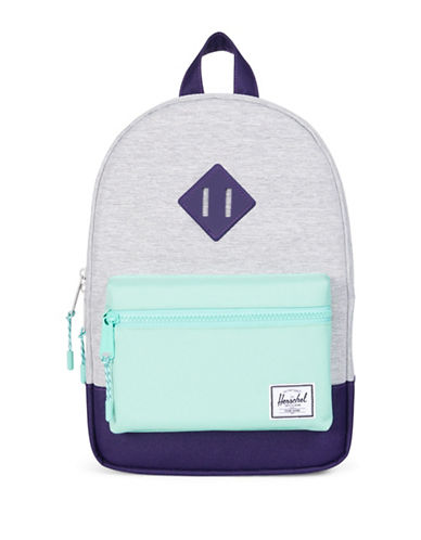 Herschel Supply Co Heritage Kids Colourblock Backpack-GREY-One Size
