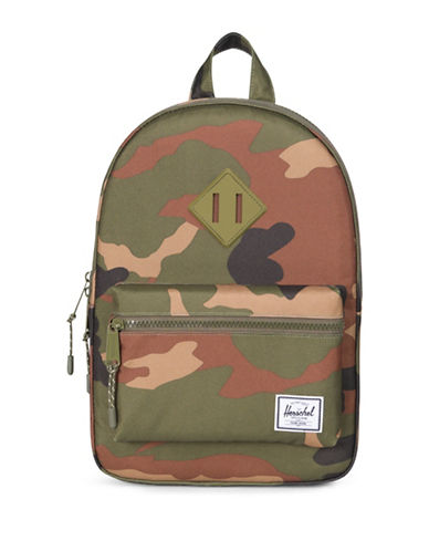 Herschel Supply Co Heritage Kids Camo Backpack-GREEN-One Size