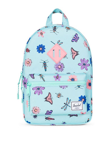 Herschel Supply Co Butterfly and Flower Heritage Backpack-BLUE-One Size