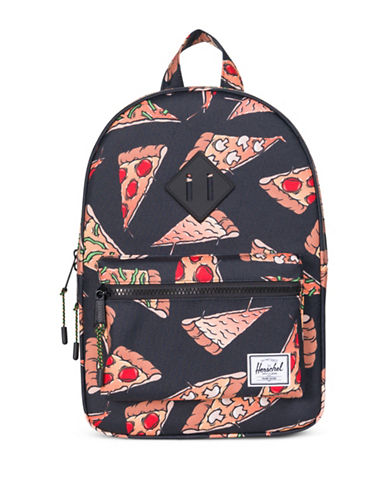 Herschel Supply Co Heritage Pizza Print Backpack-BLACK-One Size