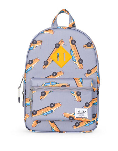 Herschel Supply Co Heritage Taxi Print Backpack-GREY-One Size