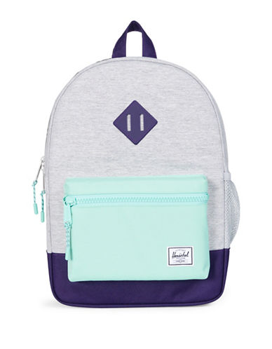 Herschel Supply Co Heritage Youth Colourblock Backpack-LIGHT GREY-One Size