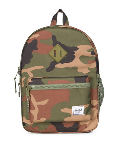 Herschel Supply Co Heritage Youth Camo Backpack-GREEN-One Size