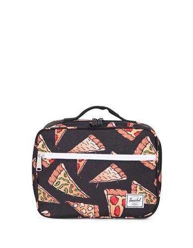 Herschel Supply Co Pizza Pop Quiz Lunch Box-BLACK-One Size
