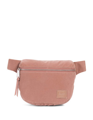 Herschel Supply Co Velvet Fanny Pack-PINK-One Size