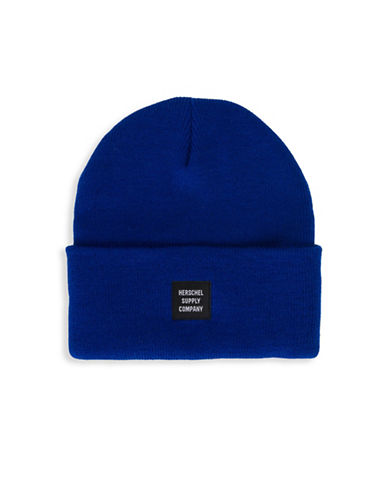 Herschel Supply Co Abbott Logo Beanie-BLUE-One Size