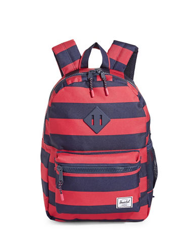 Herschel Supply Co Heritage Youth Striped Backpack-RED-One Size
