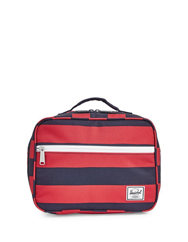 Herschel Supply Co Pop Quiz Two-Tone Lunchbox-RED-One Size