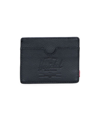 Herschel Supply Co Charlie Leather Wallet-BLACK-One Size