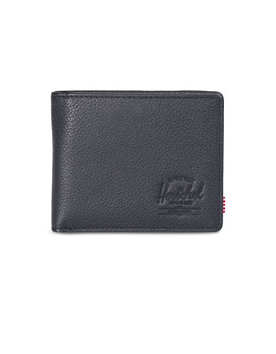 Herschel Supply Co Hank Leather Bi-Fold Wallet-BLACK-One Size
