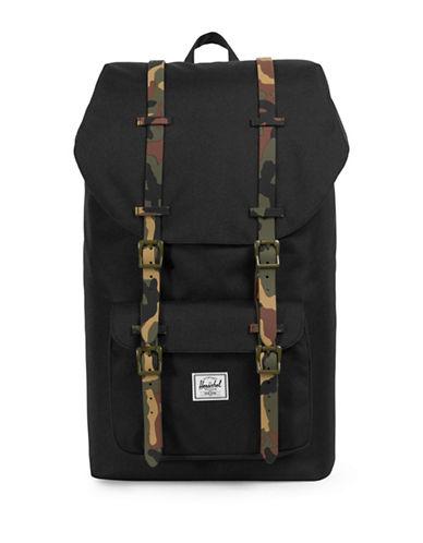 Herschel Supply Co Little America Flap Backpack-BLACK-One Size