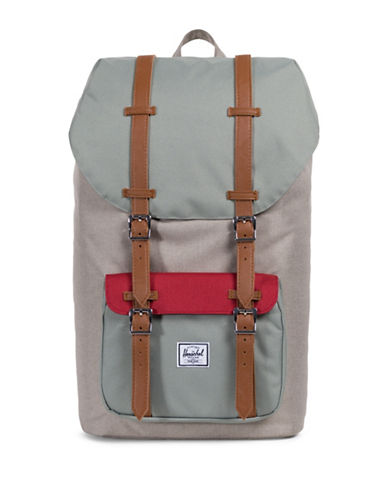 Herschel Supply Co Little America Flap Backpack-KHAKI-One Size