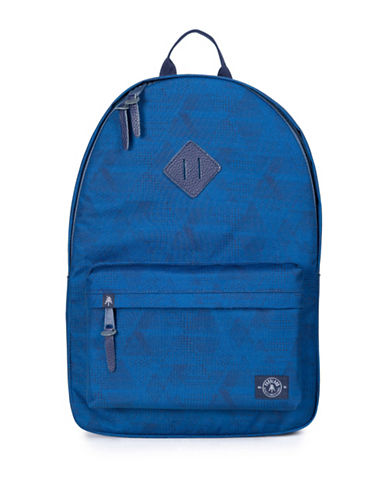 Parkland Geometric Print Backpack-BLUE-One Size