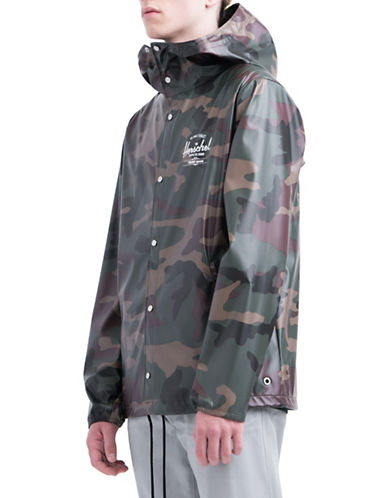 Herschel Supply Co Camouflage Waterproof Jacket-GREEN-Small 89939350_GREEN_Small