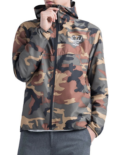 Herschel Supply Co Camouflage Hooded Jacket-GREEN-Small 89939338_GREEN_Small