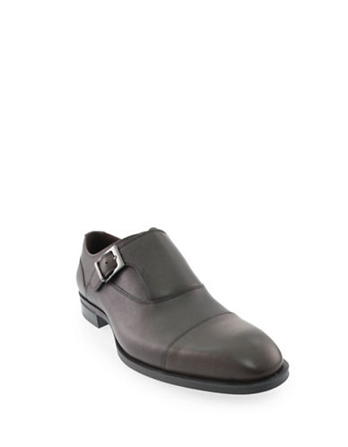 Donald J. Pliner Sergio Monk-Strap Leather Shoes-ESPRESSO-10