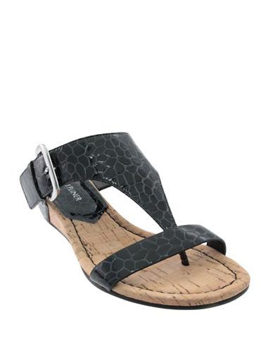 Donald J. Pliner Doli 3 Leather Sandals-BLACK-9