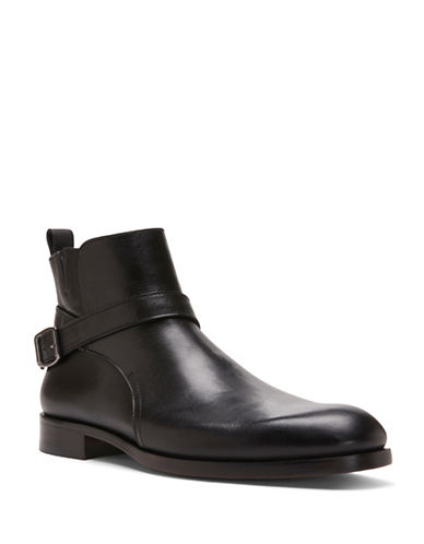Donald J. Pliner Zaccaro Leather Ankle Boots-BLACK-11