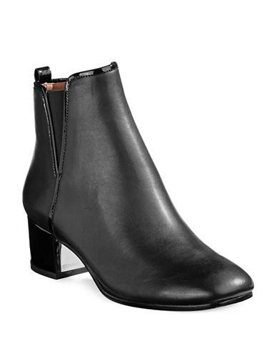 Donald J. Pliner Patent Ankle Boots-BLACK-10