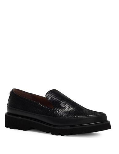 Donald J. Pliner Coco Leather Slip-On Shoes-BLACK-5.5