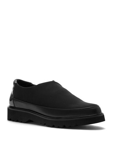 Donald J. Pliner Carly Leather Loafers-BLACK-8.5
