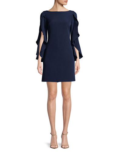 Vince Camuto Crepe Sheath Dress-NAVY-14