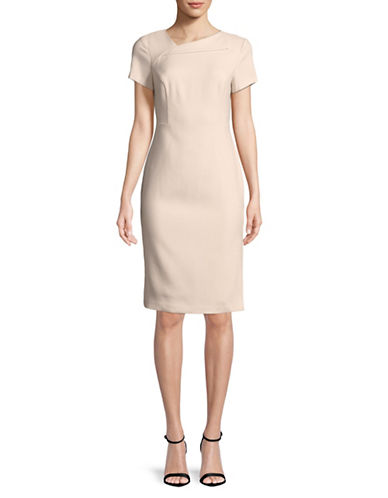 Vince Camuto Envelope Neck Sheath Dress-BLUSH-4