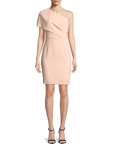 Vince Camuto One Shoulder Bodycon Dress-BLUSH-2