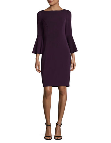 Vince Camuto Bell Sleeve Sheath Dress-PURPLE-2