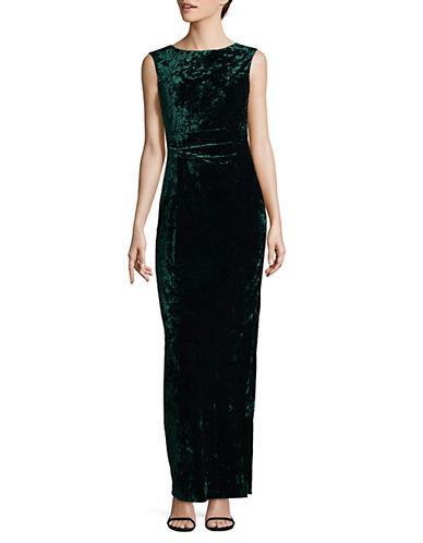 Vince Camuto Velvet Column Gown-GREEN-8