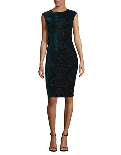 Vince Camuto Velvet Bodycon Dress-GREEN-12